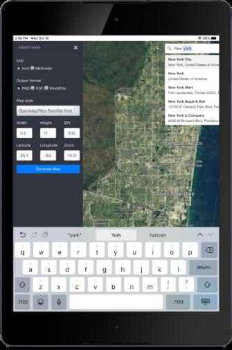 Print Map App